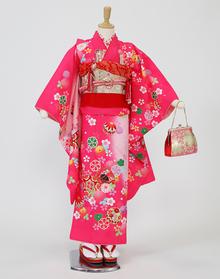 ピンク鼓に桜ちらし 【着物:72000020】 【帯:71190000】