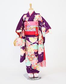 花紫に雪輪 【着物:72020025】 【帯:71390000】
