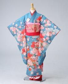 瑠璃色桜ちらし 【着物:71900035】 【帯:71340000】