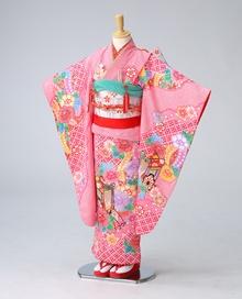 ピンク絞御所車【着物:71430020】【袴:70690000】